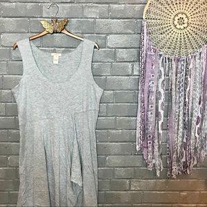 sundance // heather gray ruffled knit mididress m